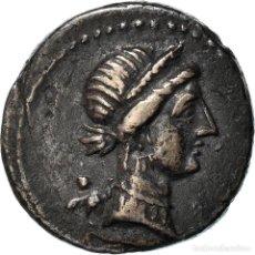Monedas Roma República: [#970970] MONEDA, JULIUS CAESAR, DENARIUS, 46-45 BC, TRAVELING MINT, MBC+, PLATA. Lote 293557343