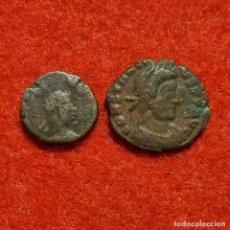 Monedas Roma República: LOTE 2 MONEDAS PEQUEÑAS ANTIGUAS ORIGINAL C10. Lote 296837228