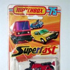 Motos a escala: MOTO HONDARORA Nº 18, FABRICADA EN METAL, ESC. APROX. 1/35 POR LA CASA MATCHBOX, AÑO 1976.. Lote 3147548
