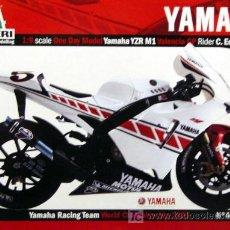 Motos in scale: YAMAHA YZR M1 GP VALENCIA C.EDWARDS A ESCALA 1:9 EASYKIT DE ITALERI. Lote 12200460