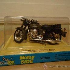Motos a escala: MOTO CON SIDECAR - GUZZI MILITAR - (GUILOY) AÑOS 70 NUEVO EN BLISTER. Lote 102123119