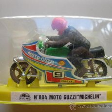 Motos a escala: MOTO GUZZI MICHELIN - Nº 804 - MOTO MINIATURA METAL - GUISVAL - AÑOS 70/80 - NUEVA.. Lote 25605146
