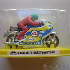 Motos a escala: MOTO GUZZI GOODYEAR - Nº 806 - MOTO MINIATURA METAL - GUISVAL - AÑOS 70/80 - NUEVA.. Lote 25617901