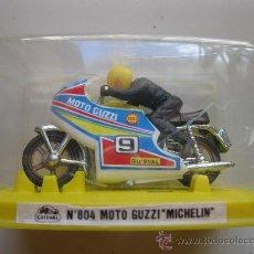 Motos a escala: MOTO GUZZI MICHELIN - Nº 804 - MOTO MINIATURA METAL - GUISVAL - AÑOS 70/80 - NUEVA.. Lote 25618203