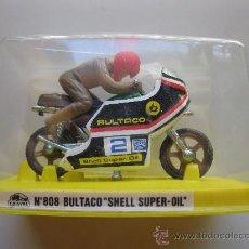 Motos a escala: BULTACO SHELL SUPER-OIL - Nº 808 - MOTO MINIATURA METAL - GUISVAL - AÑOS 70/80 - NUEVA.. Lote 25618332