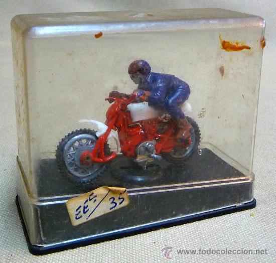 Motos a escala: RARA MOTO, MOTOCICLETA, MONTESA?, FABRICADA EN ESPAÑA POR INTER CARS, 1970s, EN SU CAJA - Foto 5 - 27647423