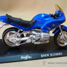 Motos a escala: MOTO, MAISTO, BMW R 1100 R S, SUSPENSION TRASERA , CON PEANA, ESCALA 1/18, CABALLETE. Lote 28436151