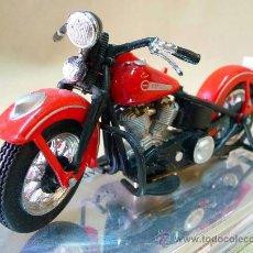 Motos a escala: MOTO, MAISTO, HARLEY DAVIDSON, 1948 FL, PANHEAD, EN PEANA, ESCALA 1/18, CABALLETE. Lote 28437891