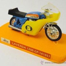 Motos a escala: MOTO MINIATURA LAVERDA 1200 GP, GUILOY, REF. 141057, CON CAJA ORIGINAL, POSIBLE OBSEQUIO YOPLAIT. Lote 28481762