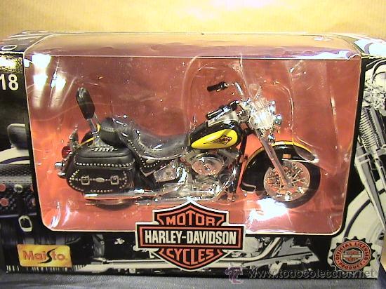 Motos a escala: HARLEY DAVIDSON 2000 FLSTC HERITAGE SOFTAIL CLASIC E:1/18 - Foto 2 - 30538881