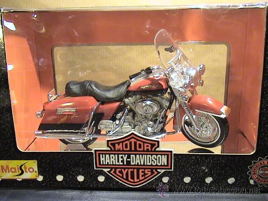 HARLEY DAVIDSON FLHR ROAD KING 1999 E:1/18 (Juguetes - Motos a Escala)