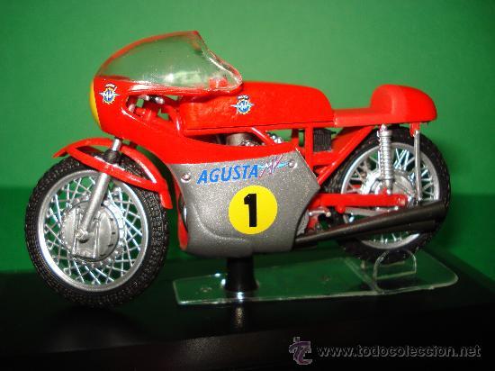 MOTO MV AGUSTA 3 CIL. 500 CC. CAMPEONA DEL MUNDO 1967 ESCALA 1/22 GIACOMO AGOSTINI PROTAR DE ITALERI (Juguetes - Motos a Escala)