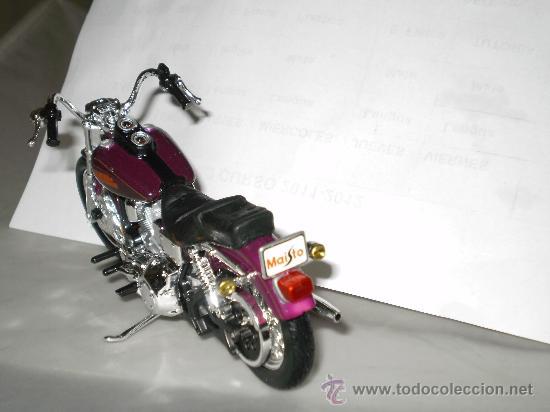 Motos a escala: MOTO HARLEY DAVIDSON , ESCALA 1/18 . DYNA LOW . DE MAISTO . - Foto 2 - 32521683
