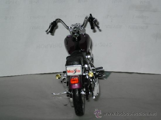Motos a escala: MOTO HARLEY DAVIDSON , ESCALA 1/18 . DYNA LOW . DE MAISTO . - Foto 3 - 32521683