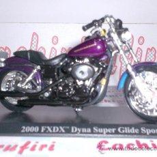 Motos a escala: HARLEY DAVIDSON FXDX DINA SUPER GLIDE SPORT AÑO 2000 DE MAISTO ESC. 1,18 DE METAL Y PARTES PLASTICAS. Lote 33898855