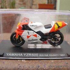 Motos a escala: MOTO YAMAHA YZR500 WAYNE RAINEY 1991 CON CAJA AÑOS 90. Lote 78509742