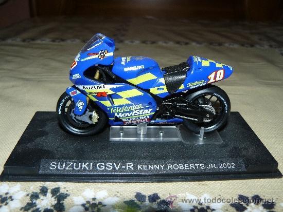 SUZUKI GSV-R. KENNY ROBERTS JR. 2002. COLECCIÓN ALTAYA. (Juguetes - Motos a Escala)