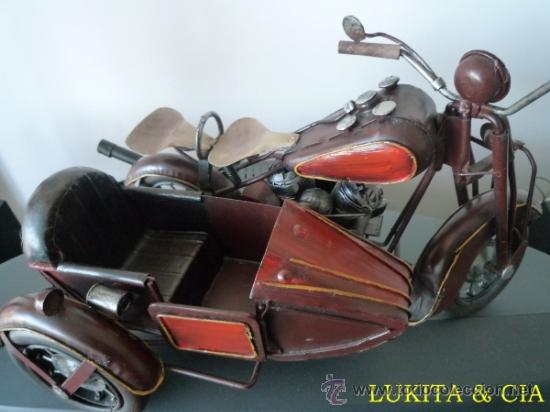MOTO METÁLICA CON SIDECAR (Juguetes - Motos a Escala)