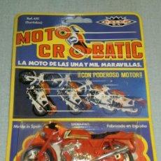 Motos a escala: MOTO CROBATIC - PILEN ( MADE IN SPAIN ) AÑOS 80 . EN SU BLISTER SIN ABRIR . . Lote 38438226