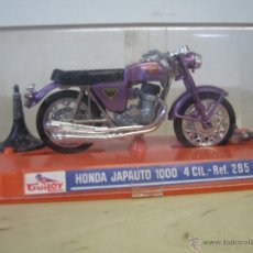 Motos a escala: JUGUETE MOTO GUILOY HONDA JAPAUTO 1000 COMPLETO CON SOPORTE Y CATALOGO. Lote 41348796