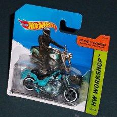 Motos a escala: MOTO HARLEY DAVIDSON FAT BOY - HOT WHEELS. Lote 201280682