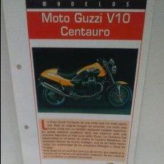 Motos a escala: MOTO MINIATURA. MOTO GUZZI V10 CENTAURO. Lote 47672086