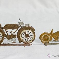 Motos a escala: CASANELLAS-CAPELL MOTOS PLOMO GRANDE Y PEQUEÑA. Lote 49970381