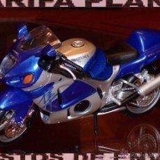 Motos a escala: MOTO SUZUKI GSX 1300R ESCALA 1:12 DE MAISTO EN SU BLISTER. Lote 52540966