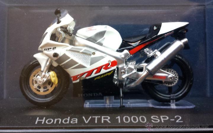 MOTO A ESCALA METÁLICA HONDA VTR 100 SP-2 RACING SHAWA EN SU ESTUCHE (Juguetes - Motos a Escala)