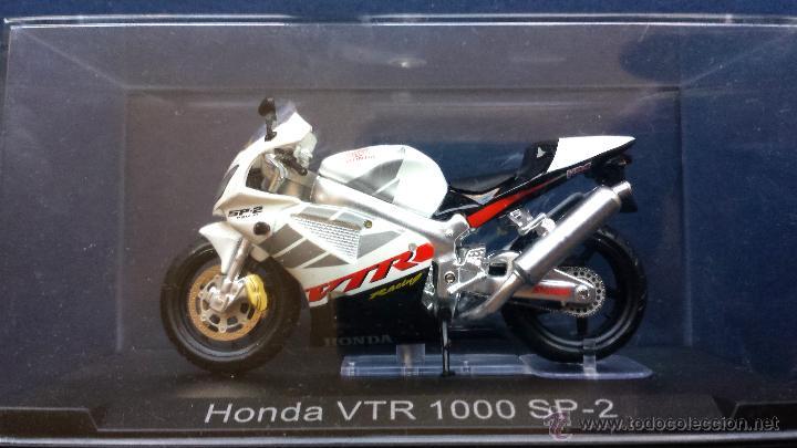 Motos a escala: Moto a Escala Metálica HONDA VTR 100 SP-2 Racing Shawa en su Estuche - Foto 2 - 53306548
