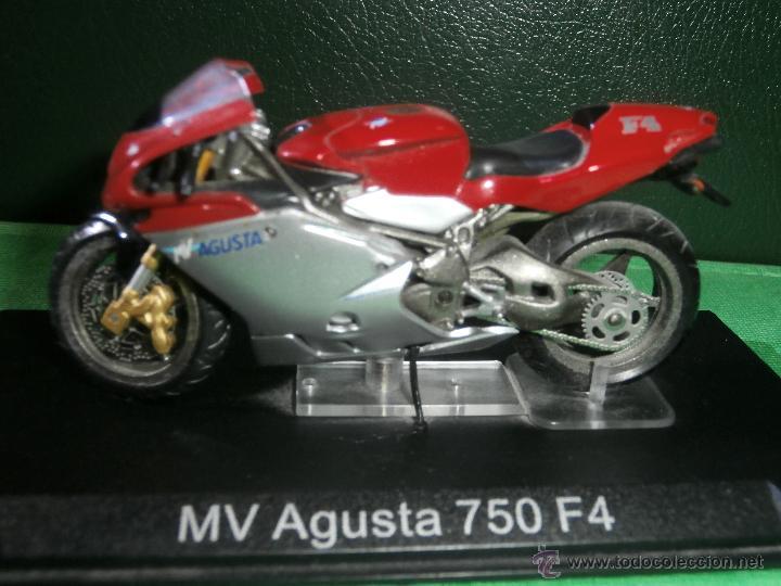MOTO - MINIATURA - MV AUGUSTA 750 F4 - ESCALA 1-24 - EN PEANA (Juguetes - Motos a Escala)