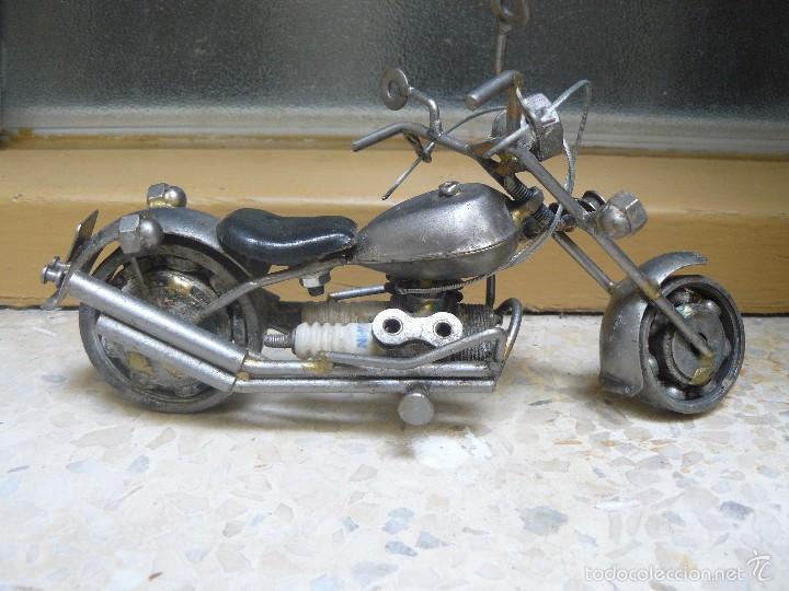 GRAN MOTOCICLETA DE COLECCIÓN. -. 20 CM. 500 GRAMOS. MOTO DE FABRICACIÓN ARTESANAL. (Juguetes - Motos a Escala)