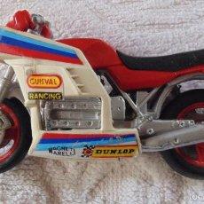 Motos a escala: MOTO GUISVAL, PUBLICIDAD DUNLOP, MAGNETI MARELLI, MOTOCICLETA.. Lote 56987578