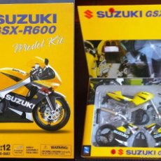 Motos a escala: SUZUKI GSX-R600 MOTO MODEL KIT 1:12 NEW-RAY DIE-CAST METÁLICA PARA MONTAR NUEVA. Lote 223376896