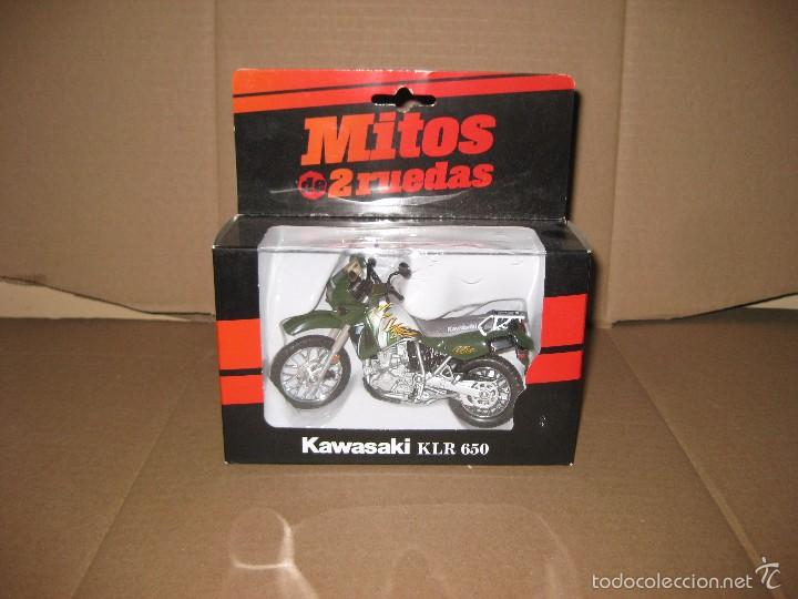 WELLY, 1/18.KAWASAKI KLR 650 (Juguetes - Motos a Escala)