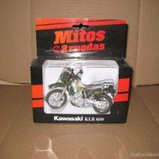 Motos a escala: WELLY, 1/18.KAWASAKI KLR 650. Lote 58894376