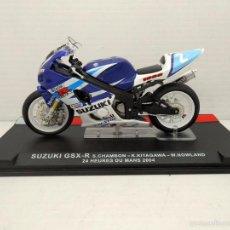 Motos in scale: MOTO SUZUKI GSX-R CHAMBON KITAGAWA NOWLAND 24 HORAS LE MANS 2004 BIKE MOTORBIKE. Lote 129551172