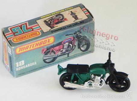 ANTIGUA MOTITO MATCHBOX HONDARORA - MOTO HONDA A ESCALA DE JUGUETE - VINTAGE - CON CAJA - TRANSPORTE (Juguetes - Motos a Escala)