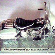 Motos a escala: MOTO HARLEY DAVISON FLH, ELECTRA GLIDE 1970, EN CAJA ORIGINAL. Lote 62580908