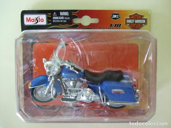 MOTO HARLEY DAVIDSON FLHR ROAD KING 1997 - MAISTO DIE CAST REPLICA ESCALA 1:18 - DIECAST MINIATURA (Juguetes - Motos a Escala)