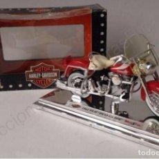 Motos a escala: FLH DÚO GLIDE 1962 - MOTO CLÁSICA AMERICANA DE CALLE 1:18 - HARLEY DAVIDSON. Lote 69665041