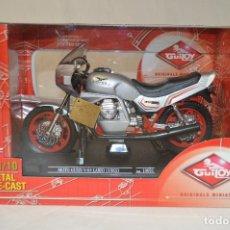 Motos a escala: PRECIOSA MOTOCICLETA MOTO GUZZI V-65 LARIO. 1983. REF.10691. ESCALA 1/10. GUILOY. ROMANJUGUETESYMAS.. Lote 71563871