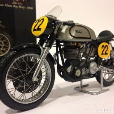 Motos a escala: MINICHAMPS NORTON MANX RAY PETTY 1960. CLASSIC BIKE SERIES Nº26. Lote 72137007