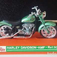 Motos a escala: GUILOY. HARLEY DAVIDSON AMF MOTO REF 304 ORIGINAL AÑOS 70 CON CATÁLOGO. Lote 73229059
