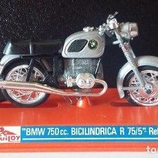 Motos a escala: GUILOY. BMW 750CC BICILINDRICA R 75/5. MOTO REF 275 ORIGINAL AÑOS 70 CON CATÁLOGO. Lote 73591011
