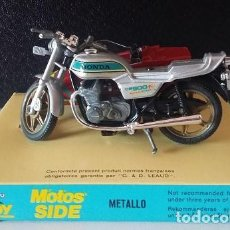Motos a escala: GLUILOY. MOTOS SIDE METALLO HONDA CB 900 CON SIDECAR. MODELO AÑOS 70. Lote 73598187