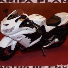 Motos a escala: MOTO KAWASAKI NINJA ZX-14R ESCALA 1:12 DE MAISTO EN SU BLISTER. Lote 75974691