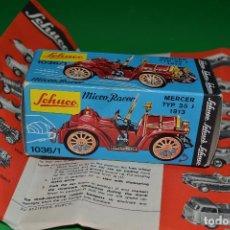 Motos a escala: CAJA VACIA /BOX SCHUCO MICRO RACER 1036/1 MERCER TYP 35 J 1913. Lote 76391027