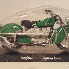 Motos a escala: MAQUETA 1/18 - MOTO INDIAN FOUR - MAISTO. Lote 80437465