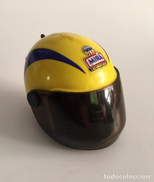 antiguo casco años 80 mira lanza motos lanzadera de juguete motocicletas minuatura moto segunda mano